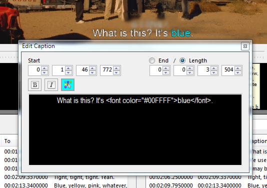 Captions Editor